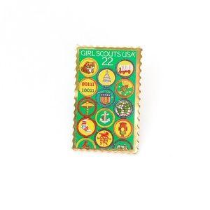 '85 Girl Scout Stamp Pin